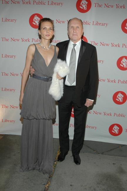 Robert Duvall and guest at the New York Public Library's 2007 Lions Benefit.